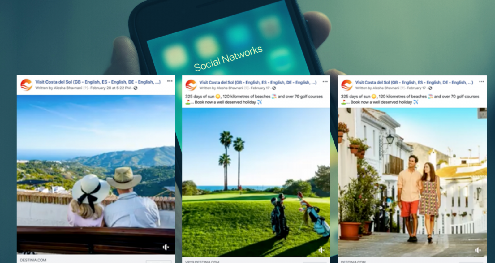 social ads costa del sol always warm campaign Interface Tourism